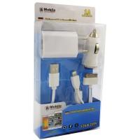 Комплект зарядно за телефон съвместимо с микро USB и iPhone