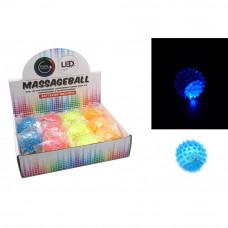 Светеща масажна топка LED - различни цветове