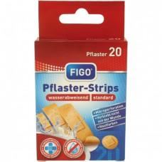 Водоусточиви пластири за рани FIGO в телесен цвят - 20 броя