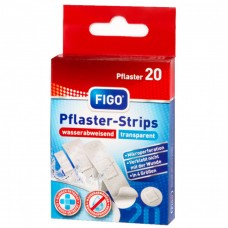 Прозрачни водоусточиви пластири за рани FIGO - 20 броя