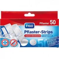 Прозрачни водоусточиви лепенки за рани FIGO - 50 броя