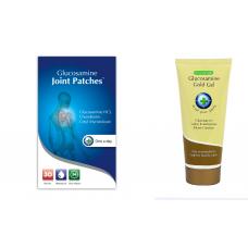Промопакет Обезболяващи пластири с глюкозамин и Глюкозамин голд гел
