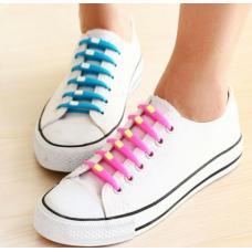 Силиконови връзки за обувки - един цвят в опаковка
