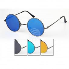 Кръгли слънчеви очила тип Джон Ленън с цветни стъкла