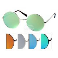 Слънчеви очила тип Джон Ленън с цветни стъкла